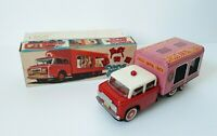 Vintage Circus Animal Truck MF782 Chinese tin toy friction, China 1970s. BOXED