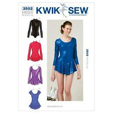 KWIK SEW SEWING PATTERN GIRLS' LEOTARDS SIZE XS - XL K3502