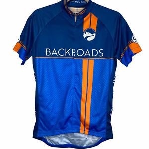 Louis Garneau Backroads Women's Size Small Blue Orange Sport Fit Cycling Jersey