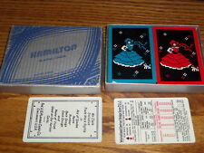 GAMES VINTAGE  HAMILTON PLAYING CARDS GILDED EDGES 2 DECKS USED GIRL WALING DOG