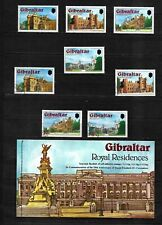 Gibraltar 1977 Royal Residences, complete set MNH, used and booklet (G105)