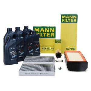 MANN Filterset + 7 L ORIGINAL BMW 5W30 Motoröl für 5er F10 F11 F07 530d 535d