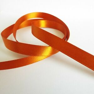 Per Metre - Burnt Orange 10mm wide - Doublesided Satin Ribbon /Party Cake / Bow