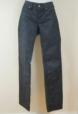 STELLA MCCARTNEY Dark Blue Cotton Blend Straight Leg Low Rise Jeans Pants Sz:28