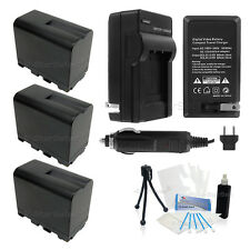 3x NP-F970 Battery + Charger for Sony DCR-TRV900 VX2000 VX2100 FX1 FX7