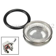 18mm Motorcycle Brake Master Cylinder Reservoir One Sight Glass Lens Gasket New