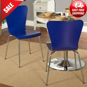 Pisa Bentwood Colorful Chair Set of 2 Stackable Dining Chair Metal Legs