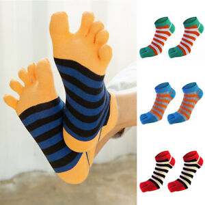 Men's Five Toe Cotton Socks Breathable Pure Sports Trainer Running Finger Socks