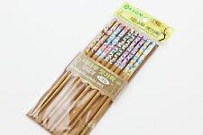 5 PAIRS Bamboo Chopsticks Japanese/Chinese Style Butterfly Pattern Chopsticks