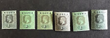 NIGERIA-George V 1914/29 1/- Green & Black on Various Papers SG8 Mounted Mint.