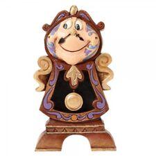 "Disney Beauty and the Beast Cogsworth Figurine ""Keeping Watch""  Enesco"