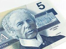 1986 Canada Five 5 Dollars GNC Prefix Canadian Uncirculated Banknote I773