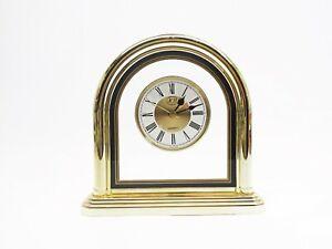 JCH Quartz Gold Mantle Clock Japan MVMT Roman Numerals Antique Style