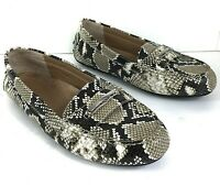 Vionic Honor Ashby Leather Snakeskin Print Driving Loafers Womens Size 9.5