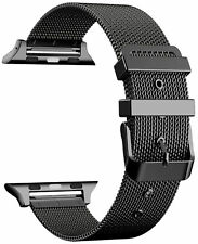 42mm Milanese Stainless Steel Bracelet Band For Apple iWatch Series 3 / 2 Black