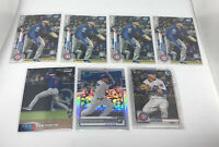 7 Nico Hoerner 2020 Rookie Card lot Topps Bowman Chrome Optic Prizm Chicago Cubs