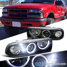 Chevy 98-04 S10 Pickup Blazer Black Halo Projector Headlights+SMD LED DRL