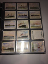 cigarette cards famous british liners 2nd series large 1935 full set