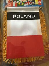 Poland Rearview Mirror Flag Mini Window Banner