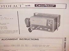 1963 EICO CB RADIO SERVICE SHOP MANUAL MODELS 771W & 772W