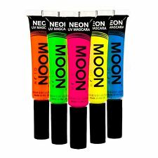 Moon Glow Neon UV Mascara - Set of 5 - Glows brightly under UV Lighting!