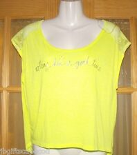 VICTORIA'S SECRET WOMEN'S TOP -SM/P - PRETTY YELLOW W/ LACE -BRAND NEW - REDUCED
