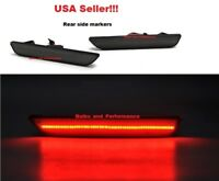 SMOKED LENS RED LED REAR SIDE MARKERS for 2010 - 2014 FORD MUSTANG