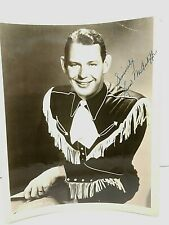 1940's Leon McAuliffe Country & Western Star Autographed Publicity Photo