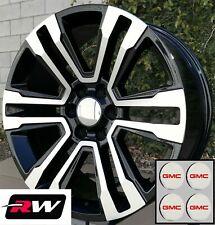 "20 x9"" GMC Sierra 1500 Factory Style Denali Wheels 2017 2018 Machined Black Rims"