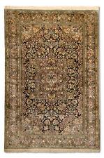 Tapis bleu persane/orientale traditionnelle avec un motif Médaillon pour la maison