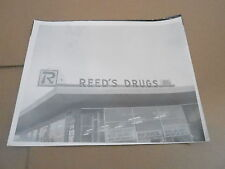 #058 VINTAGE MILWAUKEE WI ADVERTISING SIGN PHOTO - REEDS DRUG STORE