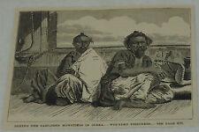 1885 magazine engraving ~ WOUNDED PRISONERS IN COREA, Korea