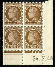 FRANCE - 1946 - N°681 2fr50 MAZELIN COIN DATÉ du 24.7.46 (3 points blancs) - TB