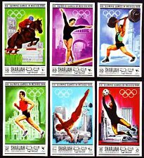 Sharjah 1968 ** Mi.489/94 B Olympische Spiele Olympic Games imperf.