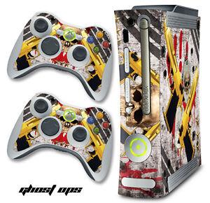 Skin Decal Wrap for Original 1-2-3 Black Xbox 360 Warfare Cod Console GHOSTS OPS