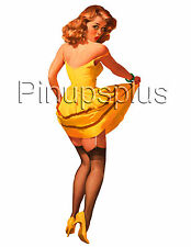 Pinup Girl  Waterslide Decal Sticker for a painted on look Guitars & more S380