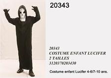 Costume carnevale demone con maschera per bimbo, 2taglie da 4-6 anni e 7-10 anni