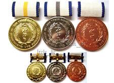 3x East german communist Doctor physician medical Medal for loyal service GDR