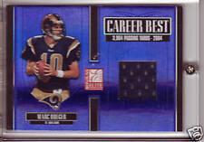 2005 Donruss Elite MARC BULGER Career Best Rams Jersey S/N 35/175