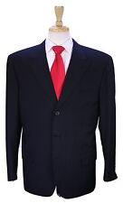 * BRIONI * Recent Bespoke Black Tonestripe Shadow Stripe Peak Lapel 3B Suit 42R