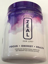 Zurvita- Zeal for Life- 30-Day Wellness Canister- Bold Grape- 420 grams