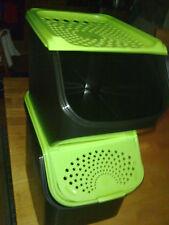 Tupper Kartoffellager & Zwiebellager Vorratsbehälter grün schwarz neu
