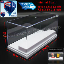 AU Clear Acrylic Display Box 20cm L Perspex Case 2 White Steps Plastic Dustproof