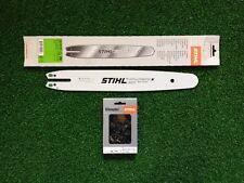 """STIHL Guide 35 cm  3/8"""" 1,1mm ref 3005 000 3909 Pour MS170 + 1 chaine STIHL"""