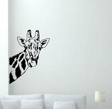 Giraffe Wall Decal Wild Animal Nursery Vinyl Sticker African Decor Mural 49hor