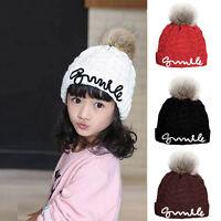 Toddler Baby Kids GirlS Boy Infant Winter Warm Crochet Knit Hat Beanie Cap 3-8T