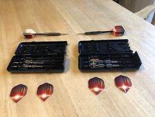 Two Sets Of 3 Each - Steel Tip Darts Arachnid Bullshooter  Astral XL 22 G, Case