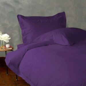 Queen Size Violet Solid 4 Piece Sheet Set 1000 Thread Count 100% Egyptian Cotton