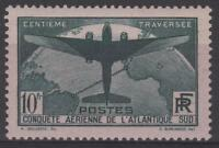 "FRANCE STAMP TIMBRE 321 "" TRAVERSEE ATLANTIQUE SUD 10F VERT "" NEUF xx TB  N162"