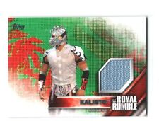 WWE Kalisto 2016 Topps Then Now Forever Royal Rumble Mat Relic Card SN 156 / 399
